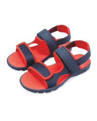 Lily & Dan Kids' Trekking Sandals - Navy/Red