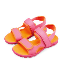 Lily & Dan Kids' Trekking Sandals - Pink/Orange