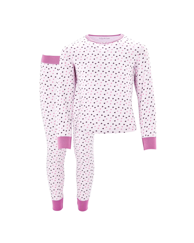 Lily & Dan Kid's Heart Pyjamas
