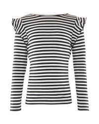 Lily & Dan Striped Frilled Top