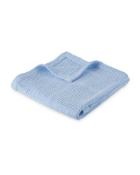 Lily & Dan Cellular Blanket - Blue