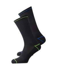 Lime, Blue & Black Socks 2 Pack