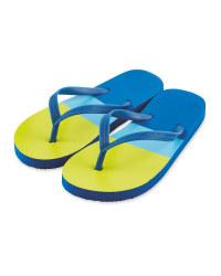 Children's Lime Flip Flops