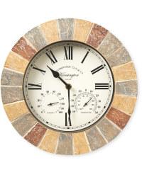 Oyster Kensington Outdoor Wall Clock