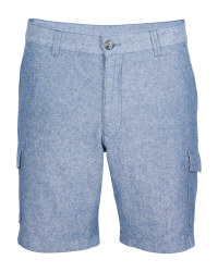 Avenue Men's Linen Blend Shorts - Blue
