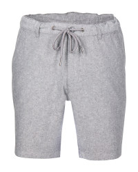 Avenue Men's Linen Blend Shorts - Grey