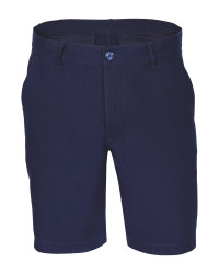 Avenue Men's Linen Blend Shorts - Navy