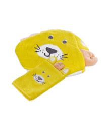 Lion Hooded Baby Towel & Mitt