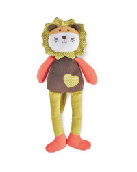 Lion Twister Plush Dog Toy