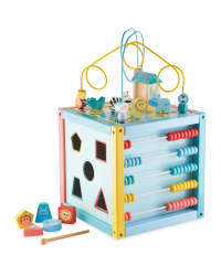 Little Town Wooden Activity Cube