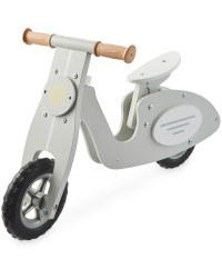 Wooden Balance Bike Scooter - Grey