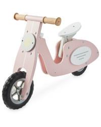 Wooden Balance Bike Scooter - Pink