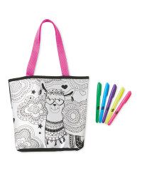 Grafix Llama Colour Your Own Bag