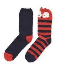 Avenue Soft Lounge Fox Socks