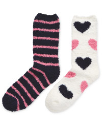 Avenue Soft Lounge Heart Socks