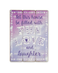 Love & Laughter Small Wooden Sign