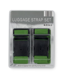 Luggage Strap 2-Pack - Green