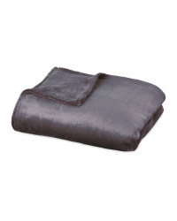 Luxury Cashmere Feel Throw - Charcoal