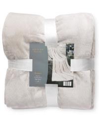 Luxury Cashmere-Feel Throw - Silver