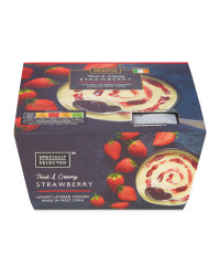 Luxury Layered Strawberry Yogurt