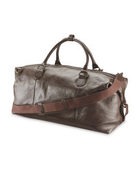 Avenue Luxury Leather Holdall - Brown
