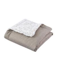 Luxury Pet Blanket/Mat - Twill Grey