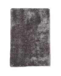 Small Luxury Shaggy Rug - Dark Grey