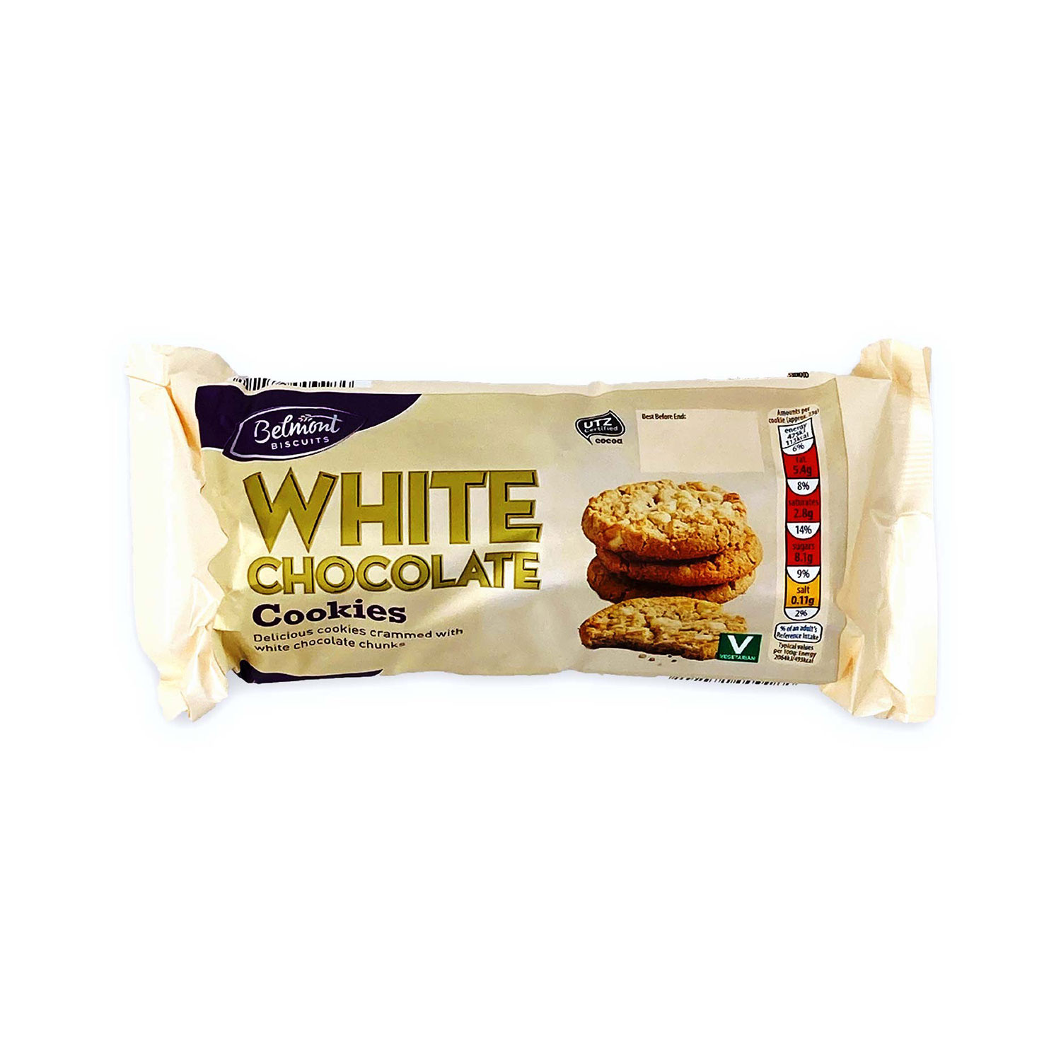 Belmont Cookies White Chocolate