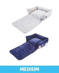 Medium Floral Roll Down Pet Bed