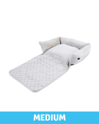Medium Floral Roll Down Pet Bed - Grey