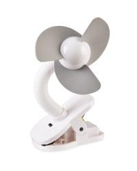 Mamia Clip on Fan - Grey