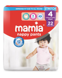 Mamia Nappy Pants Size 4 - 22 Pack