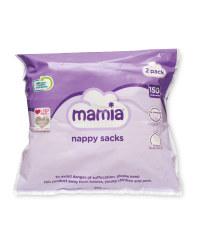 Mamia Nappy Sacks 2 x 150 Pack