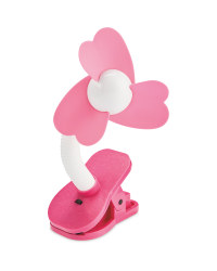 Mamia Pushchair Clip On Fan - Pink