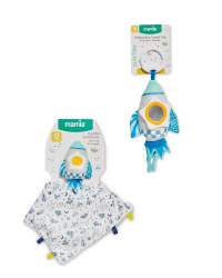 Mamia Rocket Rattle And Comforter