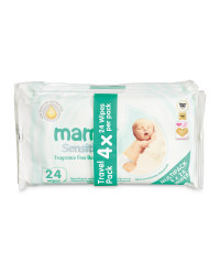 Mamia Sensitive Travel Wipes 4 Pack