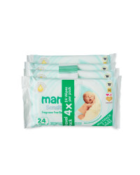 Mamia Sensitive Baby Wipes 4 x 24