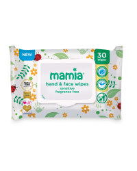 Mamia Sensitive Skin Wipes 30-Pack