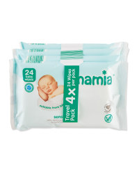 Mamia Sensitive Wipes 4 x 24 Pack