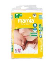 Mamia Size 2 Newborn Nappies 44 Pack