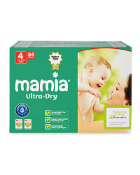 Mamia Size 4 Nappies Jumbo 84-Pack