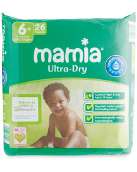 Mamia Size 6+ XL Nappies 26-Pack
