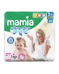 Mamia Ultra Dry Size 5+  36 Nappies