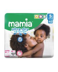 Mamia Ultra Dry Size 5 - 40 Nappies