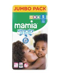 Mamia Ultra Dry Size 5 - 72 Nappies