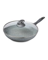 Crofton Marble Look 28cm Frying Pan - Grey