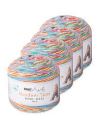 Mardi Gras Rainbow Yarn 4 Pack