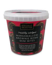 Marshmallow Brownie Bomb Mini Bites