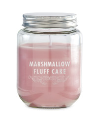 Marshmallow Fluff Cake Candle
