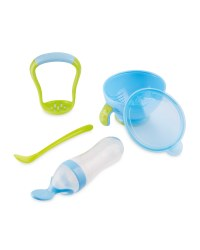 Mash n' Feed Squeeze Feeder - Blue/Green
